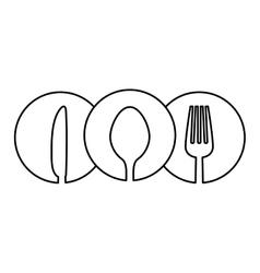 figure cutlery icon image design vector image