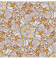 Floral ornamental pattern in for coloring book vector