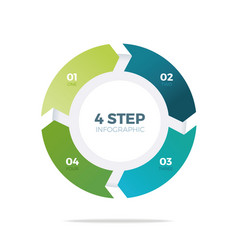 four step circle infographic vector image vector image