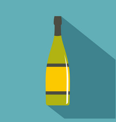 Glass bottle icon flat style vector