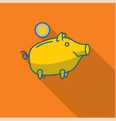 Happy piggy bank or money box vector