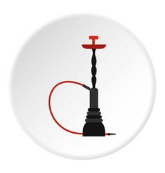 hookah icon circle vector image