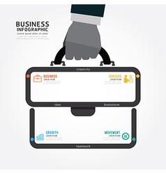infographics businessman hand hold business bag vector image