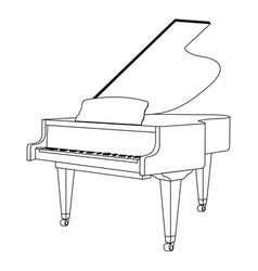 isolated piano outline vector image