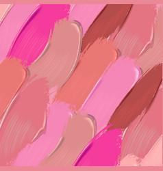 Lipstick smears background vector