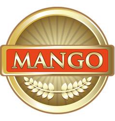 Mango gold label vector