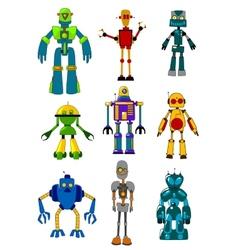 Mechanical robots vector image