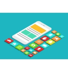 modern concept 3d isometric smartphone vector image