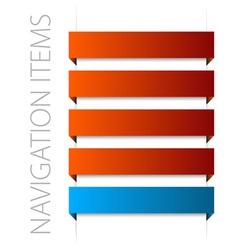 modern red navigation vector image vector image