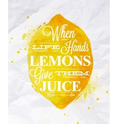 Poster fruit lemon vector