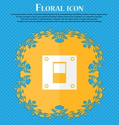 Power switch icon sign floral flat design on a vector