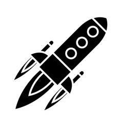 rocket power launch flight icon vector image