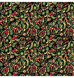 Seamless colorful paisley pattern vector image