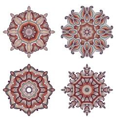 Set of four mandalas vector image vector image