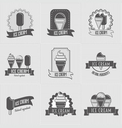 set of ice cream logo badges labels templates vector image vector image