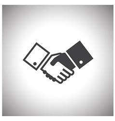 Shake hand icon vector
