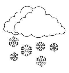 snow icon outline style vector image vector image