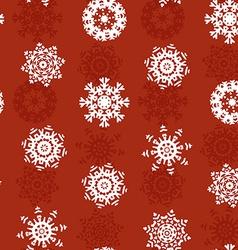 Snowflake Xmas Patter vector image