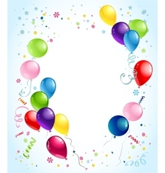 Birthday balloons background vector image
