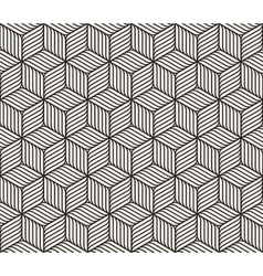 Seamless Black And White Cube Shape Lines vector image