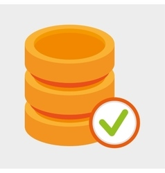 data storage server check icon vector image