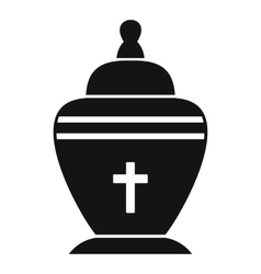 Urn icon simple style vector image