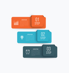 infographics 3 options vector image