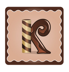 letter k candies vector image