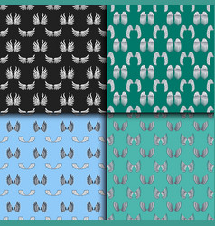 wings seamless pattern animal feather pinion bird vector image