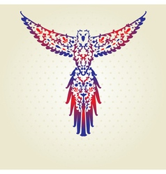 Decorative parrot vector
