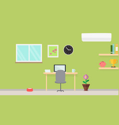 Creative modern workplace with table and designer vector