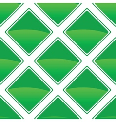 Green turned square pattern vector