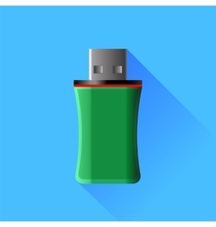 Green memory stick vector