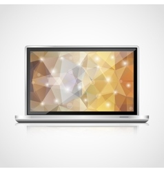 Realistic open laptop vector