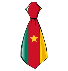 Necktie in national colours of cameroon vector