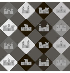 Seamless background with different castles vector