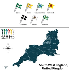 South west england vector