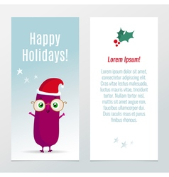 Funny christmas and new year holiday banners vector