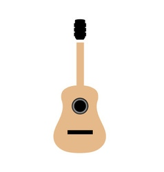 Acoustic guitar in simple colors vector image