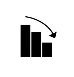 Bars graphic descending icon vector