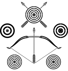 bow and targets vector image vector image
