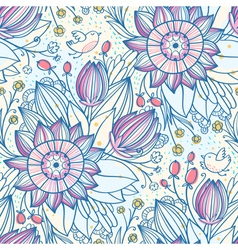 Decorative floral pattern 2 vector image vector image