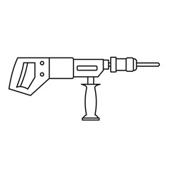 Electric drill perforator icon outline vector