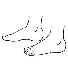 feet standing vector image vector image
