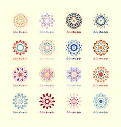 geometric mandalas symbols set vector image