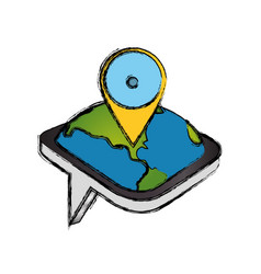 Gps map pointer vector