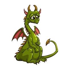 Green dragon vector image vector image
