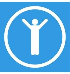 Happy icon vector