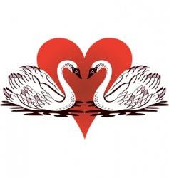 love swans vector image