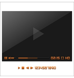 Media Player Interface vector image